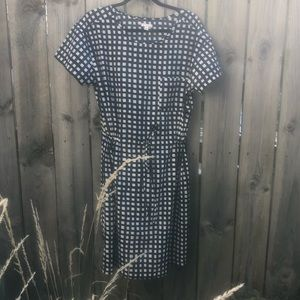 Gap Blue & White Checked Tunic Dress Cinch waiste